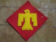 Rare WW 2 US Army 45th Infantry Division Wool Multipiece felt