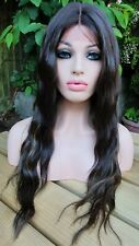 Light Brown Lace Wig, Chestnut Brown Ash Brown Blonde Hoghlights Lace Front Wig