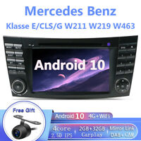 Car Stereo Android 10.0 Radio Sat Nav For Mercedes CLS E Class W211 W219 Carplay