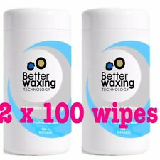 Better Waxing Oil  After Wax Wipes 2 x 100pk (OFFICIAL STOCKIST) 200wipes