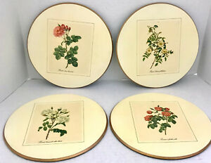 Vintage Set of 4 Rosier 9 inch Acrylic Placemats with Felt Backing