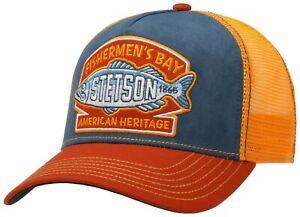 Stetson Trucker Cap Baseball Mesh Snap Cap Fishermen`S Bay 28 New Trend