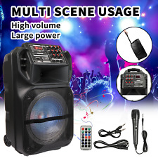 """Professional Bluetooth Speaker 12"""" Woofer 1"""" Tweeter With Microphone & Remote US"""