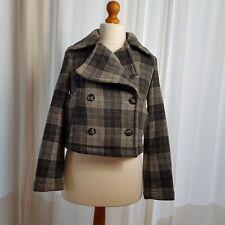 Gap women pea coat double breasted jacket 100% wool size xs