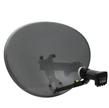 GENUINE SKY 60Cm Dish with Quad LNB + Wall Mount Bracket for SKY or FREESAT