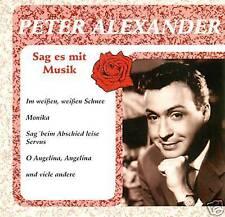 PETER ALEXANDER - SAG ES MIT MUSIK CD ALBUM (6763)