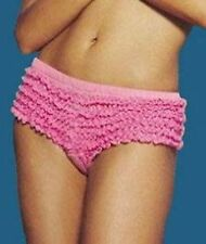 FRILLY HOT PANTS BURLESQUE RUFFLE LACE KNICKERS BRIEFS
