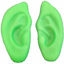 Elf Costume Green Pointy Rubber Ears Gremlin LOTR Gnome Easy to Wear Pointed Ear