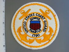 1977 United States Coast Guard felt jacket patch, by NS Meyer, new never issue