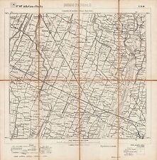 BORGO PANIGALE,CALDERARA DI RENO:Grande Carta.Istituto Geografico Militare.1884