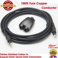 12FT Digital Optic Audio Toslink Cable + Toslink Digital Audio Splitter