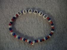 New York Giants NFL beaded bracelet