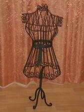 Schneiderpuppe Schneiderbüste aus Eisen in schwarz oder antikweiß 90cm hoch