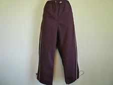 New Athletic Works women M 8 10 purple capri pants windbreaker draw string waist