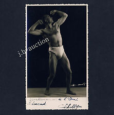ATHLETE BODYBUILDER CULTURISTE BEEFCAKE NEAR NUDE * Vintage 30s Photo PC Gay Int