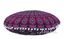 "Indian Mandala Pillow Case Handmade 22"" Round Cushion Pillow Covers Decor Throw"