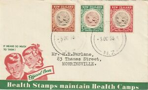 1955 New Zealand FDC cover Health Stamps