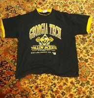 000 Vintage Georgia Tech Yellow Jackets Team Edition Shirt 100% Cotton XL 1885