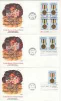 SSS: 3 pcs  US Fleetwood FDC 1991 29c Desert Shield/Storm, PB4  Sc #2551