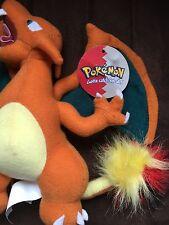 """Charizard Plush Pokémon NWT Play By Play 8"""" Stuffed Toy Nintendo 1999 HTF NEW"""
