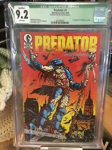 Predator 1 CGC 9.2 SIGNED Chris Warner 1st Print Dark Horse 1989 Comic 1st App