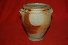 Petit pot à graisse en terre cuite vernissée -  Art populaire poterie