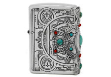 Zippo Indian Spirit Cross with Natural Stone/ RARE Model from JAPAN !
