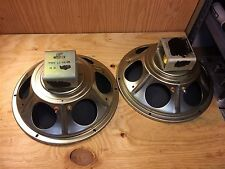 """2 Fisher 12"""" Woofers 1960s Alnico 16-ohm Tube Guitar Amp Speakers LS-831-105"""