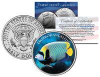 EMPEROR ANGELFISH *Fish Series* JFK Kennedy Half Dollar U.S. Colorized Coin