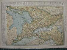1926 MAP ~ ONTARIO COUNTIES PRINCIPAL CITIES & TOWNS MUSKOKA