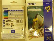 """Carta Fotografica Epson Premium Glossy 10x15cm 4x6"""" 20 FOGLI GLOSS 255g/m2"""