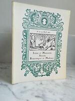 Catálogo De Venta Libros Y Manuscritos Antiguos Románticas Y Moderno 1969