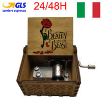Music Box Carillon La Bella E La Bestia Beauty And Beast Natale Musica Legno X