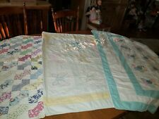 3 Antique Baby, Lap Smaller Quilts TLC Lot