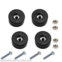 Set of 4 Power Generator Rubber Feet / Foot Mount + Mounting Screws + Nuts
