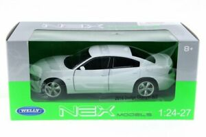2016 DODGE CHARGER R/T WHITE 1/24 SCALE DIECAST CAR BY WELLY 28079D