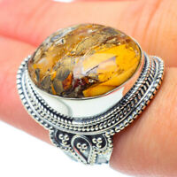 Large Brecciated Mookaite 925 Sterling Silver Ring Size 8.5 Jewelry R30671F