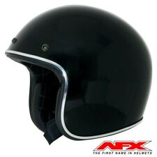 CASQUE MOTO AFX JET VINTAGE 3 4 SOLID COLOR BLACK BRILLANT M  MOTOMIKE 34