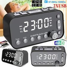LED Funk DAB/DAB+ digital Uhrenradio FM UKW Radiowecker Dual USB Alarm mit Timer