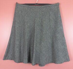 SK13310- JONES NEW YORK Womens Wool Silk Paneled Flared Skirt Grainy Plus Sz 24W