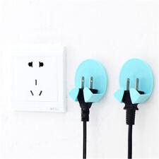 2PCS Power Plug Socket Jack Hook Rack Holder Hanger Home Wall Decor UK