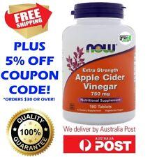 Now Foods Apple Cider Vinegar EXTRA STRENGTH 750mg 180 Tablets STRONGER VERSION