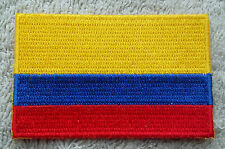 COLOMBIA FLAG PATCH Embroidered Badge Iron or Sew on 3.8cm x 6cm South America