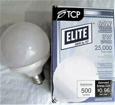 LED8G25D27KF TCP 8W (60W Equal) Dimmable 2700K Frosted LED Globe Light Bulb