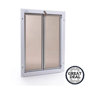 """Chew Proof Extra Large White Wall Mount Dog Door 16"""" X 23.75"""""""