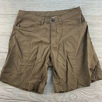 *Mountain Hard Wear Mirada Cargo Shorts Womens Brown Nylon 6 Pockets Size 6