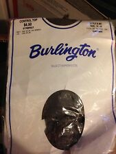 Vintage Burlington pantyhose color grey mist size 1-2X