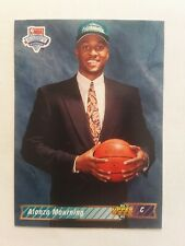 1992-93 Upper Deck ALONZO MOURNING Rookie #2 Charlotte Hornets