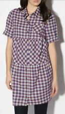Peter Jenson Tunic Top Size XS Tiered Flannel Plaid #A26