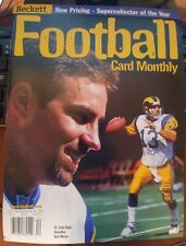 Beckett Football Card Monthly magazine Price Guide Kurt Warner December 1999